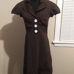 Size 13. Brown polkadot